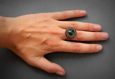 Стильное кольцо с изумрудным кристаллом Swarovski подарок девушке крым