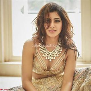 Samantha Ruth Prabhu Stunning in Brown Wedding Lehena ~ Exclusive Celebrities Galleries