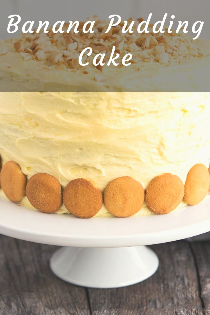 Our Banana Pudding Cake is an incredibly moist three-layer dream cake with a cream cheese pudding filling, lots of bananas, and a luscious frosting.