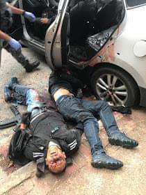 Graphic: 10 bank robbers shot dead in Brazil