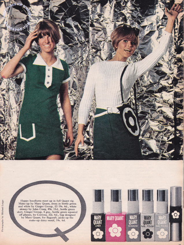 1960s Mary Quant clothes and make-up