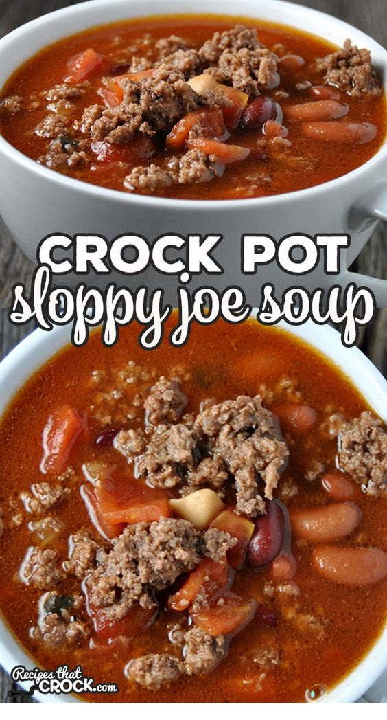 Crock Pot Sloppy Joe Soup