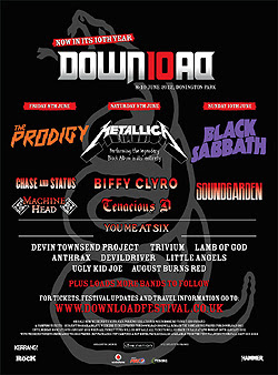 Soundgarden, Anthrax y Little Angels al Download Festival 2012
