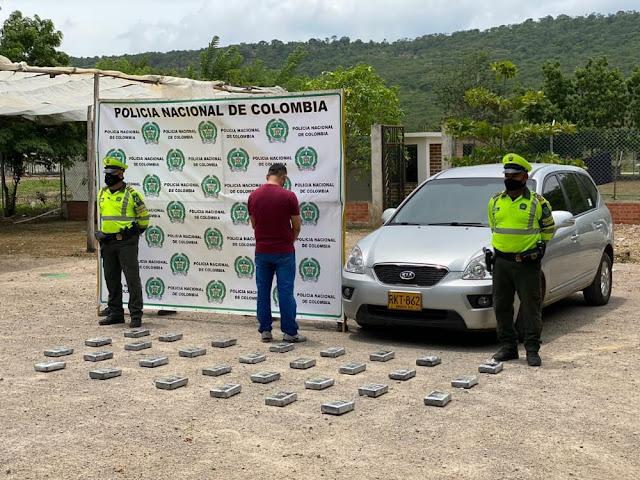 hoyennoticia.com, Cayó con 34 kilos de coca