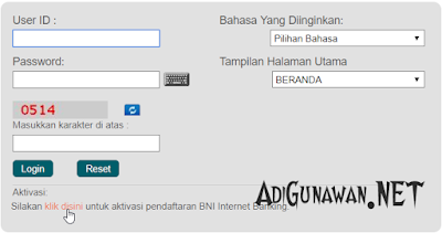 Internet Bangking Rek BNI