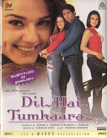 Poster Of Dil Hai Tumhaara 2002 Hindi Movie 700MB HDRip 720p ESubs HEVC Watch Online Free Download downloadhub.in