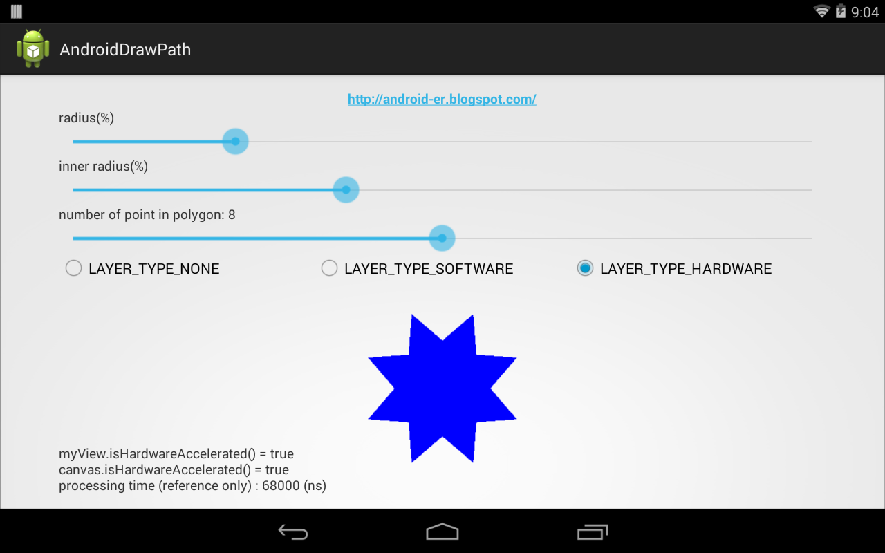 Android-er: Fill Path with color
