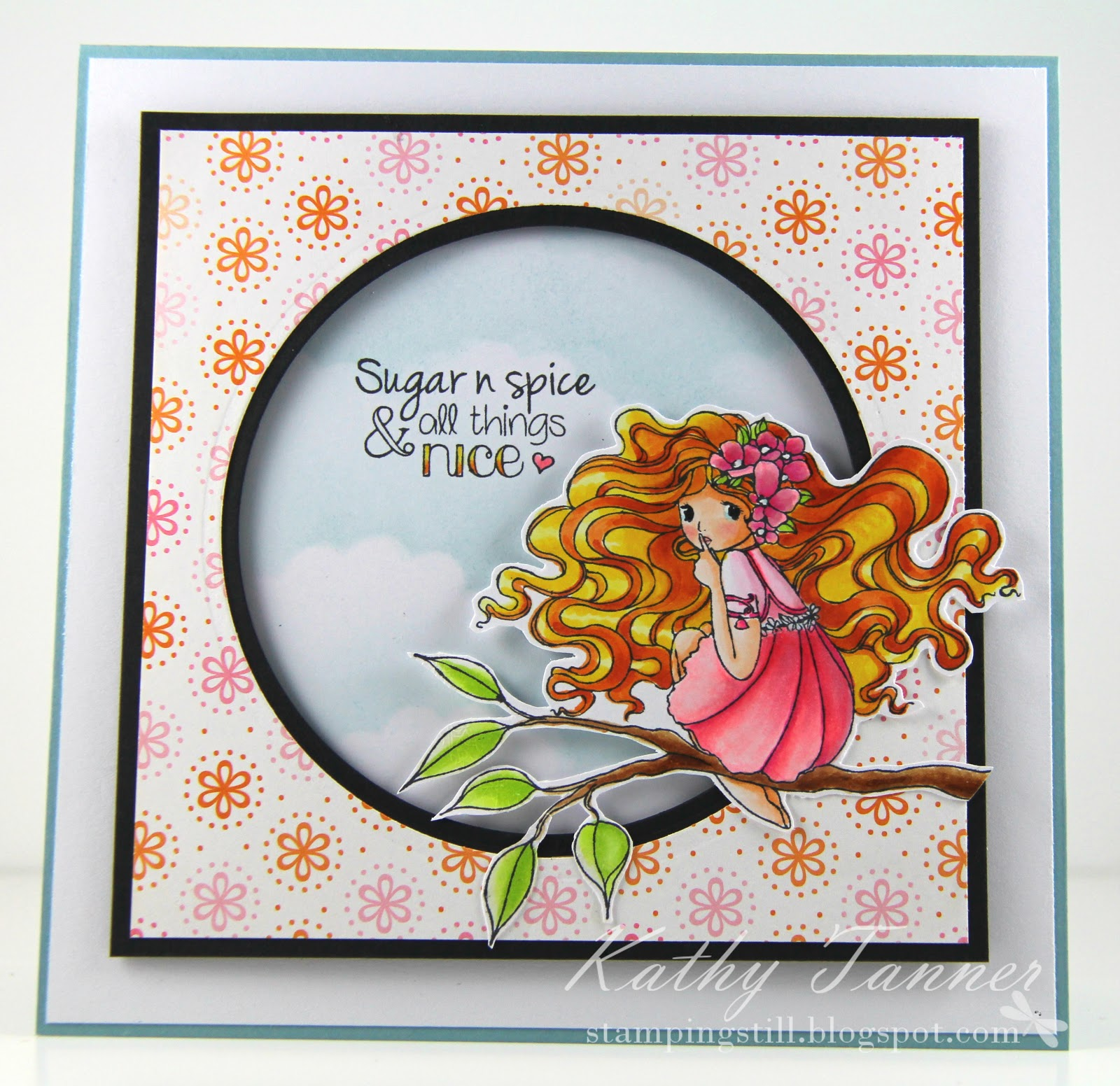 Fairy on the Tree. Girl Talk, Whimsy Stamps