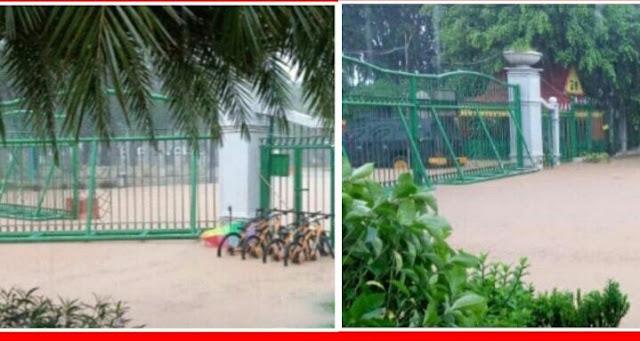 Tolong Bawain TOA Nya Pak Anies, Istana Negara Kediaman Presiden Jokowi Hari Ini Terendam Banjir 20-30 Cm