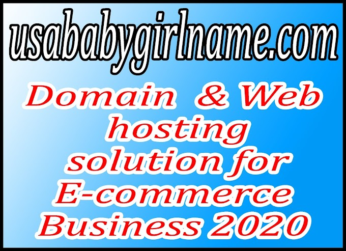 Domain  & Web hosting solution for E-commerce Business 2020
