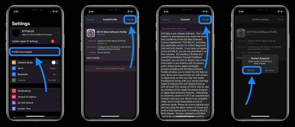 cara-menginstal-ios-15-developer-beta-di-iphone