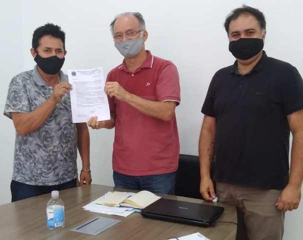 Vereador Dito Castro se reúne com o prefeito Nilton Hirota