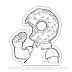 I like Donuts para Colorir ( Simpsons )