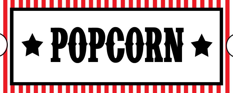 popcorn movie ticket template - printable movie ticket template