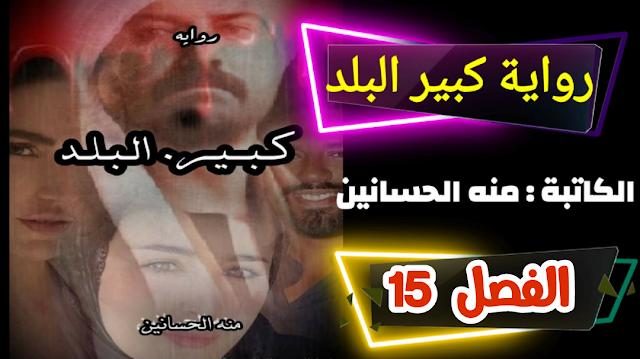رواية كبير البلد للكاتبه منه الحسانين - الفصل الخامس عشر
