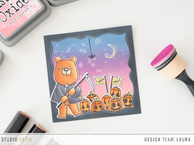 Halloween Card feat Studio Katia Kobi the Grim Reaper - Full Pic
