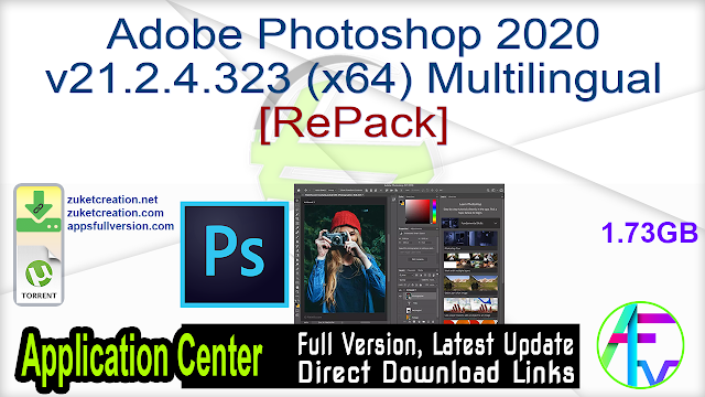 Adobe Photoshop 2020 v21.2.4.323 (x64) Multilingual[RePack]