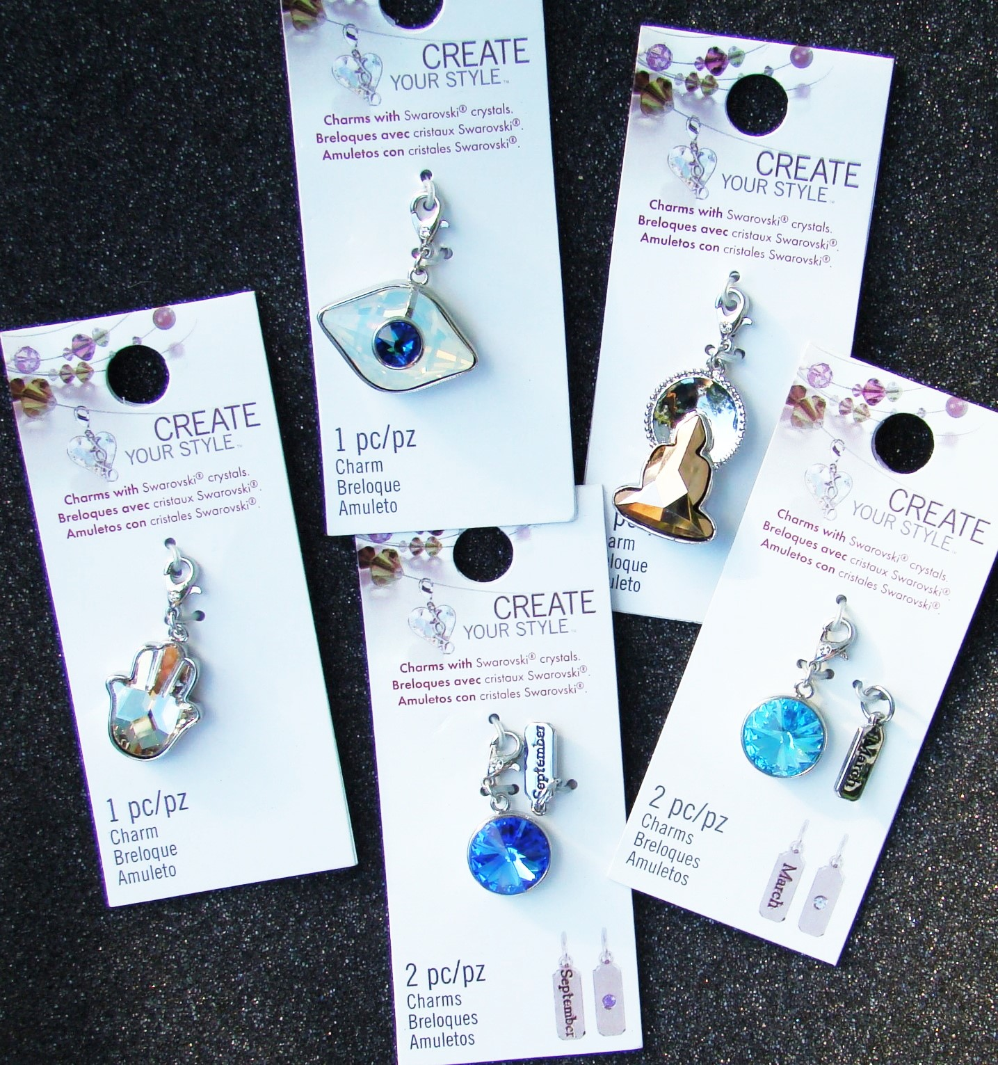 b426b4b2598750 I am loving these charms made with Swarovski crystals!!