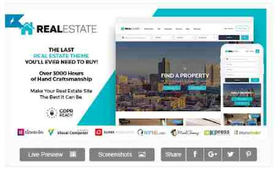 Download Theme Wordpress Real Estate 7 v2.9.2