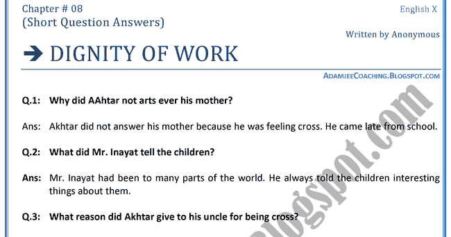 Dignity at Work Essay