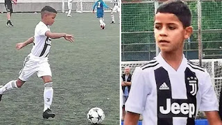 Christiano junior is back, as he net four goals for juventus