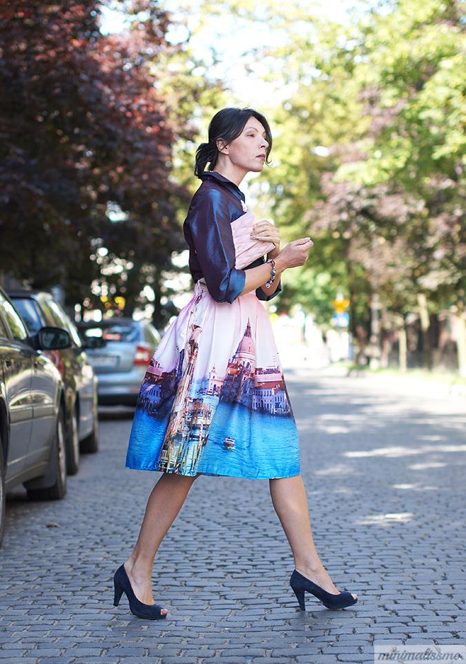 painted skirt midi