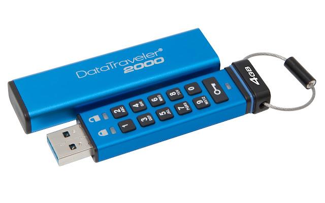 Kingston agrega capacidades de 4GB y 8GB a su unidad USB encriptada DataTraveler 2000