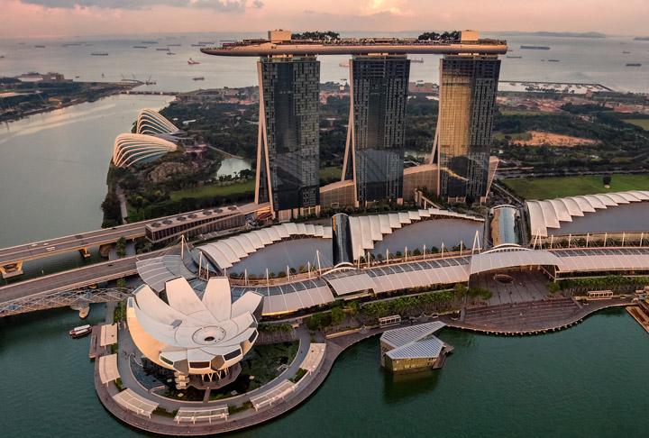 Marina Bay Sands tempat menarik di Singapore