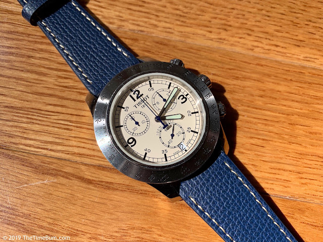 Vario Vintage Italian Leather Straps blue Tissot