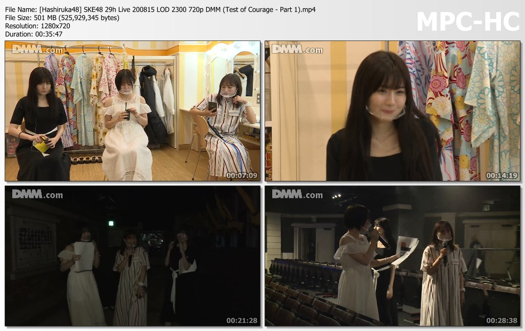 SKE48 29h Live 200815 LOD 2300 DMM (Test of Courage – Part 1)