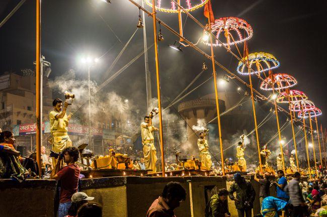 Evening Ganga Aarti at Dashashwmedh Ghat Varanasi