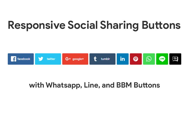 Responsive Social Sharing Buttons With Whatsapp Line And BBM