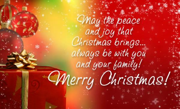 Merry Christmas Quotes in English || Christmas Card Sayings