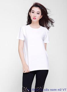 Áo cổ tròn nữ màu trắng