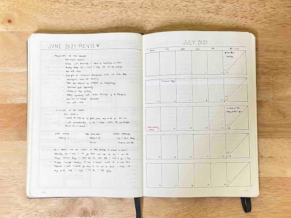 July 2021 Bullet Journal Set Up