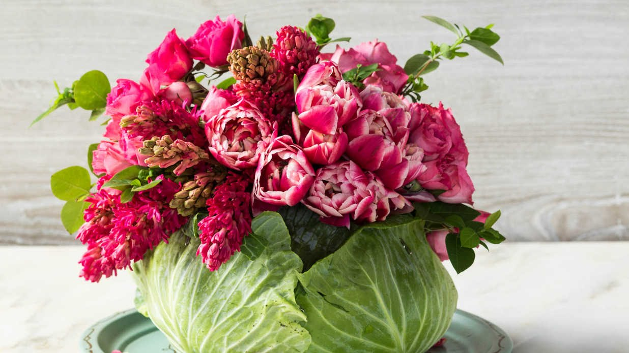 DIY Cabbage Flower Centerpiece | Southern Living