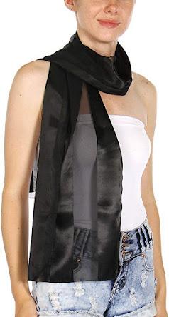 Sexy Black Chiffon Scarves Shawls