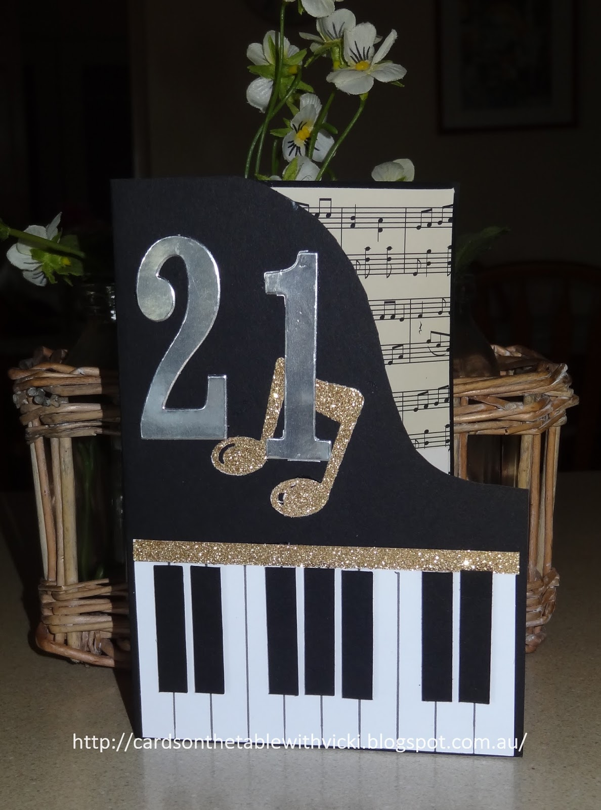 First Off A 21st Birthday Card For My Pianist Nephew How Easy Was This To Make