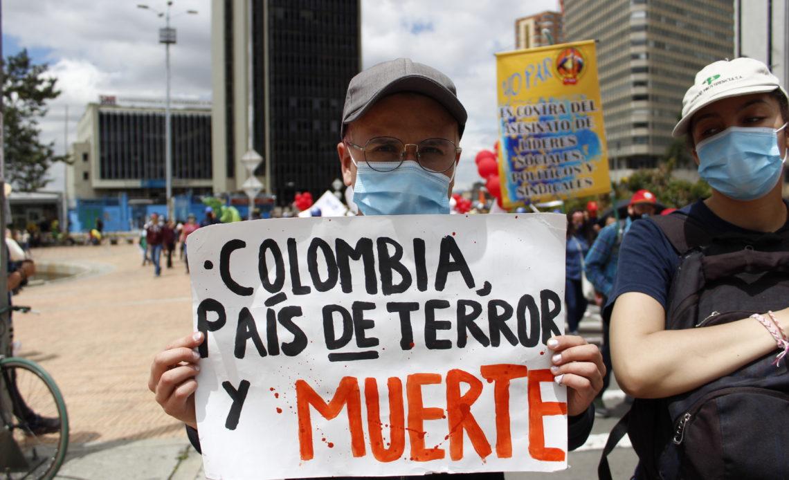Colombia supera los 100 líderes sociales asesinados en el 2021