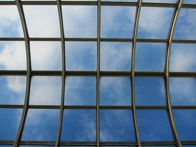 Yorkdale station's glass roof.
