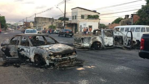 Recife em madrugada de terror com assalto a uma transportadora de valores