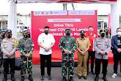 Gubernur Edy Apresiasi Vaksinasi Drive Thru di Lanud Soewondo
