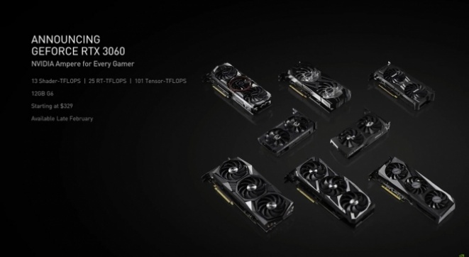 Nvidia GeForce RTX 3060 graphics card