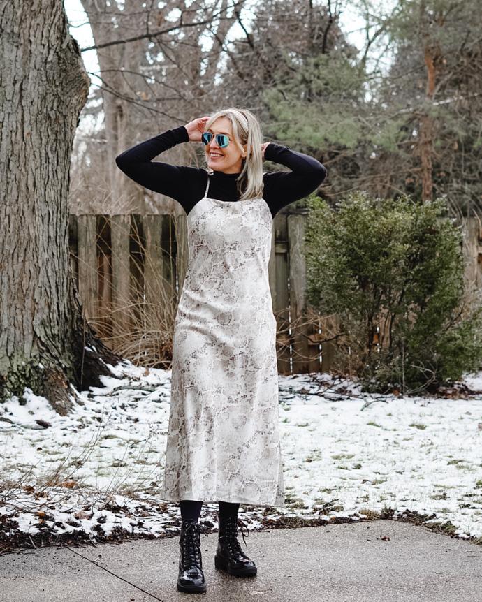 what to wear under a slip dress