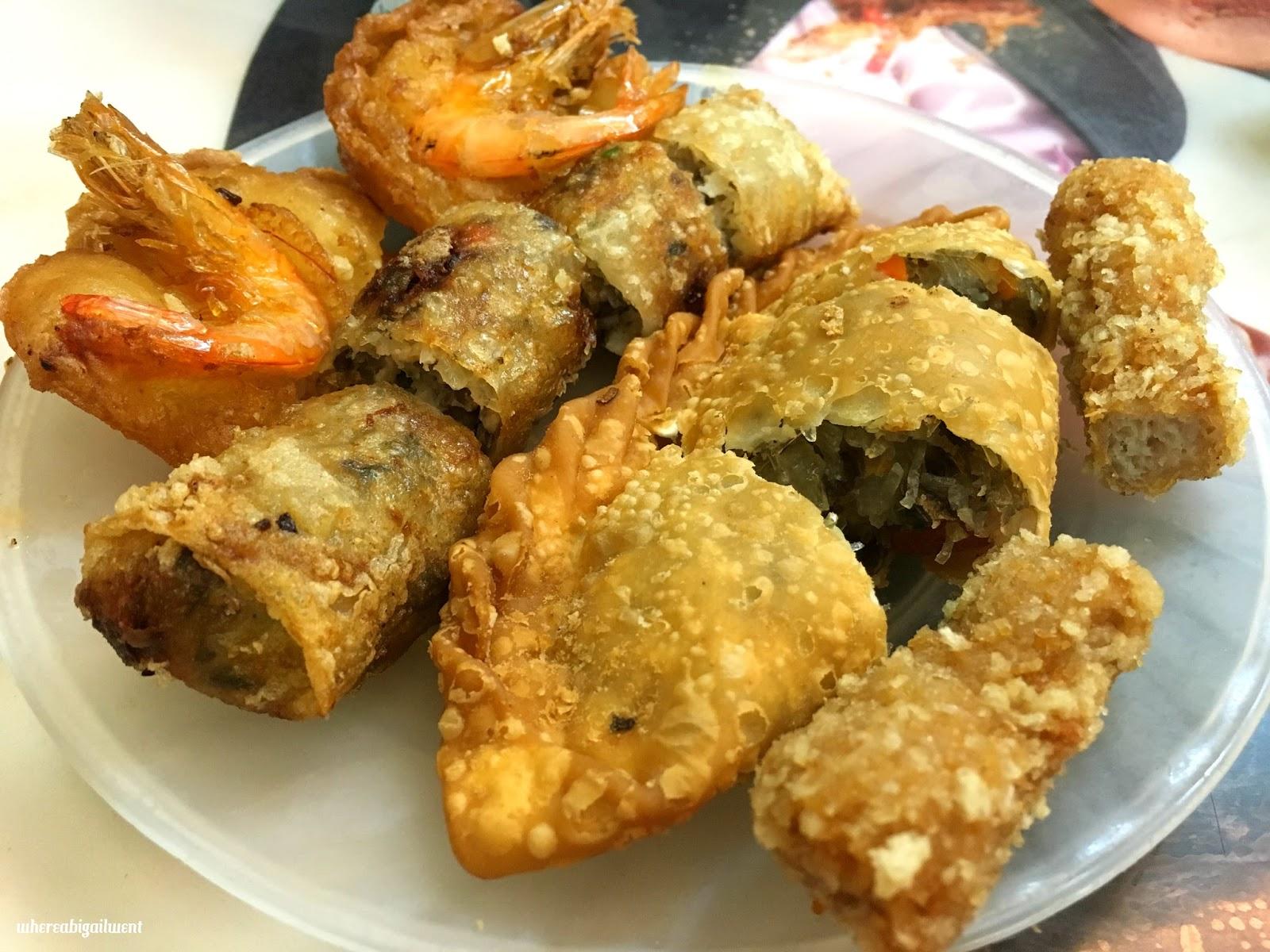 Best shrimp fritters Old Quarter Hanoi