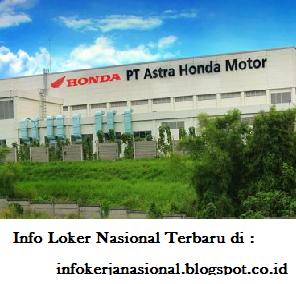 Lowongan Kerja PT Astra Honda Motor (AHM) Jakarta