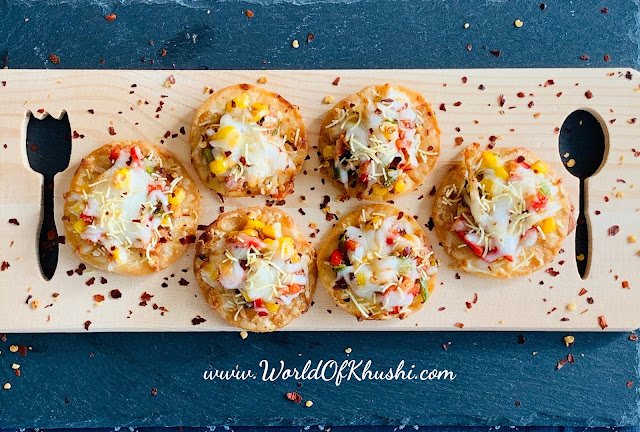 Chatpati Papdi Pizza Bites | Recipe