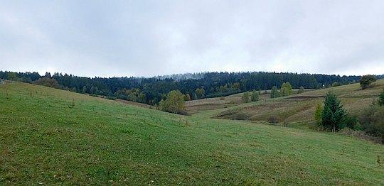 Góry Leluchowskie. Łąki na Wojkową.