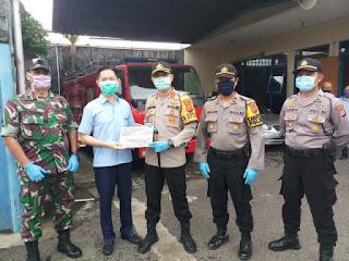 Kapolres Cirebon kota melaksanakan pengecekan pelaksanaan protap pencegahan Covid-19  dan penerapan physical Distancing di PT. Arteria Daya Mulya