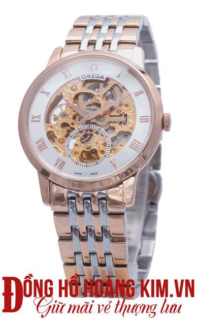 đồng hồ nam dây thép omega